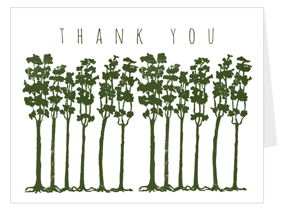 Trees thank you